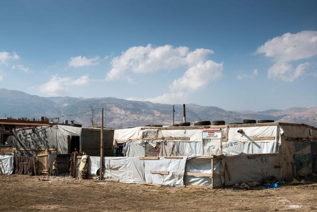 En av de mange flyktningeleirene i Bekaa. FOTO: Kim Søderstrøm